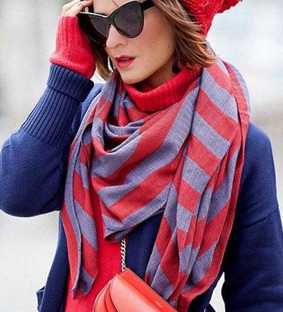 Модные женские шарфы 2019 — 2020: с чем носить, модные тенденции, новинки, 50 фото